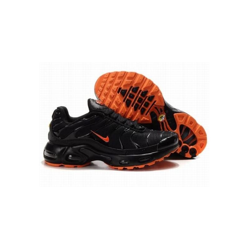 Nike Air Max TN Noir Orange Hommes Baskets