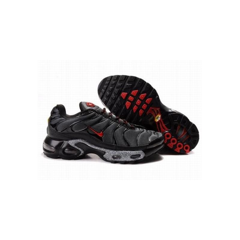 Nike Air Max TN Noir Rouge sport Gris Hommes Baskets