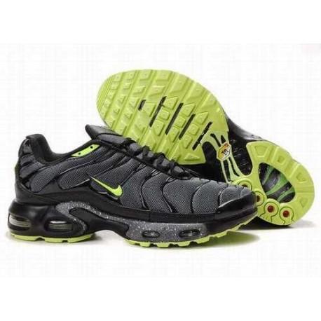 Nike Air Max Tn Chaussures Homme Noir / Vert 435DT6